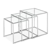Zuo® Tempered Glass Pasos Nesting Table, Clear