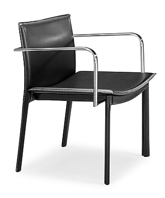 Zuo® Leatherette Gekko Conference Chairs; Black, 2/Pack