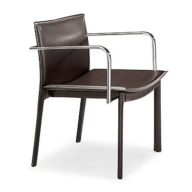 Zuo Gekko Steel Conference Chair, Espresso, 2/Pack (404143)