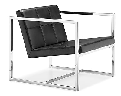 Zuo Carbon Steel Lounge Chair, Black (500073)
