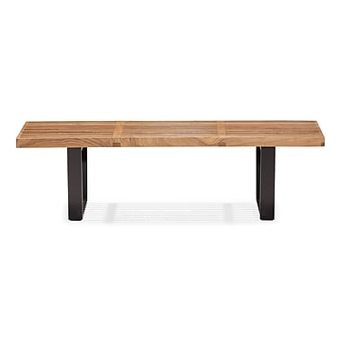 Zuo® Heywood Double Bench, Natural
