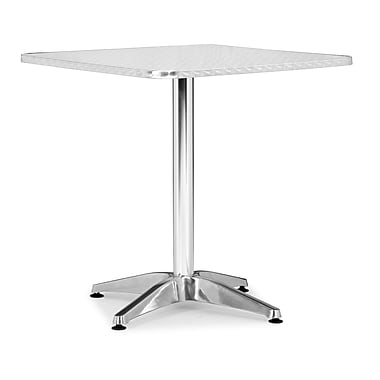 ZuoMD – Table carrée en aluminium collection Christabel, 27,5 x 27,5 po
