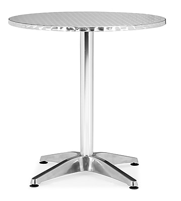 """""""""""Zuo 27 1/2"""""""""""""""" x 27 1/2"""""""""""""""" Aluminum Christabel Round Table"""""""""""" 223391"""
