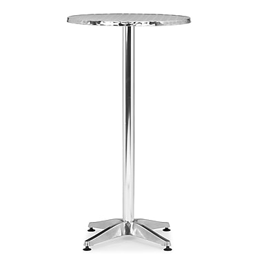 ZuoMD – Table style bar en aluminium de la collection Christabel, 23,5 po
