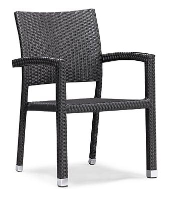 Zuo Aluminum Boracay Chair, Espresso 223404