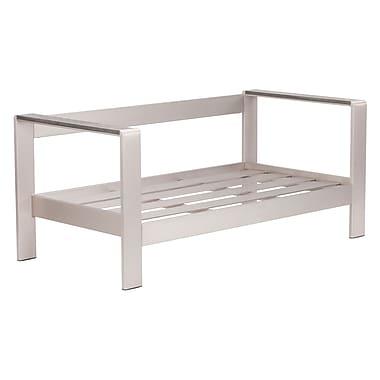 Zuo® Polyurethane Cosmopolitan Sofa Frame, Brushed Aluminium