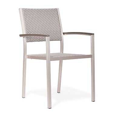 Zuo® Metropolitan Brushed Aluminum and Polywood Armchair
