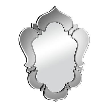 ZuoMD – Miroir suspendu Vishnu, 20 1/2 x 25 1/2 po, gris