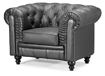 Zuo® Aristocrat Leather Armchair, Black