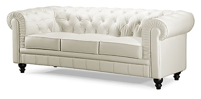 Zuo® Leatherette Aristocrat Sofa, White