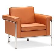 Zuo® Singular Leatherette Armchair, Terracotta
