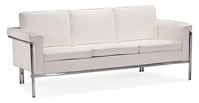 Zuo® Leatherette Singular Sofa, White
