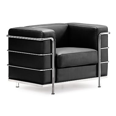 Zuo® Fortress Leather Armchair, Black