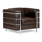 Zuo® Fortress Leather Armchair, Espresso