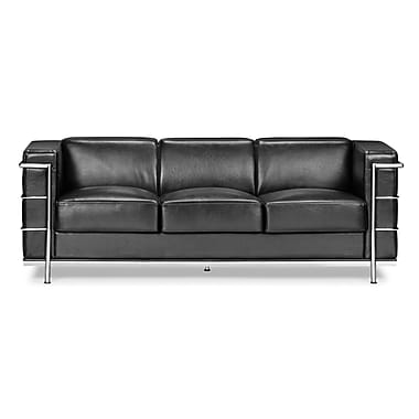 Zuo® Leatherette Fortress Sofa, Black