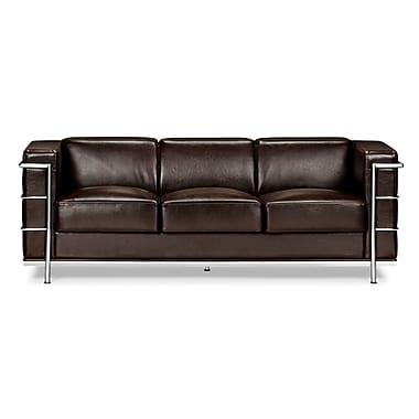 Zuo® Leatherette Fortress Sofa, Espresso