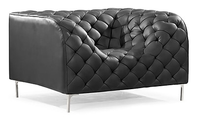 Zuo® Providence Leatherette Armchair, Black