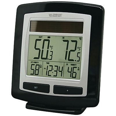 La Crosse Technology Solar Powered Temperature and Humidity Station with Solar Sensor (WS-6010U-IT)