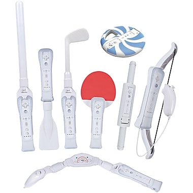 CTA® WI-8SR 8-in-1 Sports Pack for Nintendo Wii Sport Resort; White