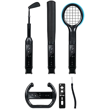 CTA Digital Grand Slam 6-in-1 Sports Pack for Nintendo Wii, Black (CTAWI6KB)