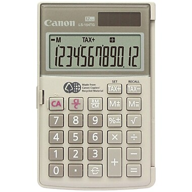Canon CNN1075B00AA 12-Digit Display LS-154TG Handheld Calculator