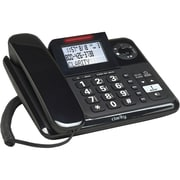 Clarity D703HS E814 Amplified Single Line Corded Office Telephone, Black