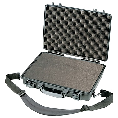 Pelican Laptop Case With Pick 'N' Pluck Foam Liner, Black/Gray