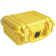 Pelican 1200 Case With Foam, Yellow