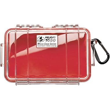 Pelican Waterproof Case, Red/Clear (PLO1050028100)