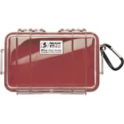 Pelican 1040 Waterproof Case, Red/Clear