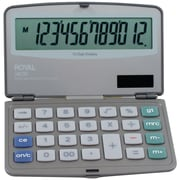 Royal® 29305Y 12-Digit Display Folding Solar Calculator