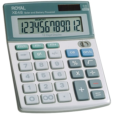 Royal 29306S 12-Digit Display Compact Desktop Solar Calculator