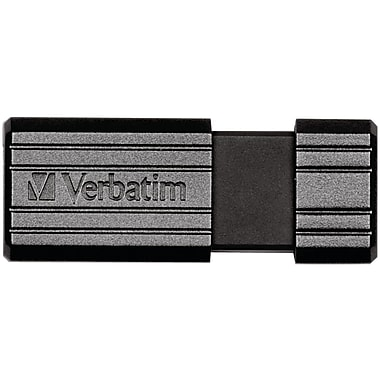 Verbatim PinStripe 32GB USB 2.0 Flash Drive, Black (VTM49064)