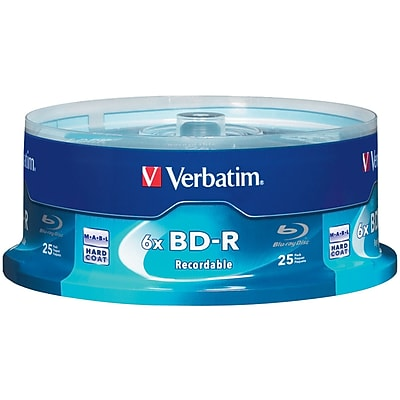 Verbatim 25GB 6X BD-R Spindle, 25/Pack (97457)