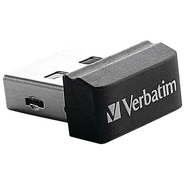 Verbatim Store 'n' Stay VTM97464 16GB USB 2.0 Nano Flash Drive, Black