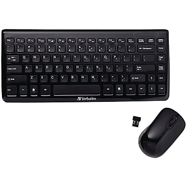 Verbatim Mini Wireless Slim Keyboard and Mouse (VTM97472)