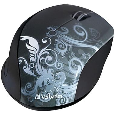Verbatim VTM97786 USB Wireless Optical Mouse, Black