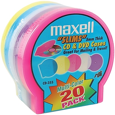 Maxell® Jewel CD/DVD Case, Assorted