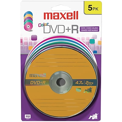 Maxell MXL639031 4.7 GB DVD+R Blister, 5/Pack