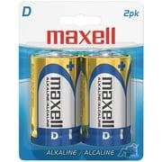 Maxell® LR202BP D Alkaline Battery, 2/Pack