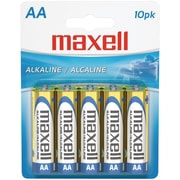 Maxell® LR610BP AA Alkaline Battery, 10/Pack