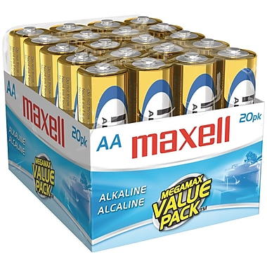 Maxell® LR620MP AA Alkaline Battery, 20/Pack