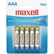 Maxell® LR0310BP AAA Alkaline Battery, 10/Pack