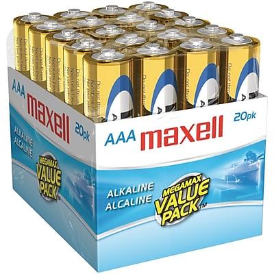 Maxell® LR0320MP AAA Alkaline Battery, 20/Pack