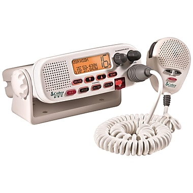 Cobra® MR-F45D Class-D Fixed Mount VHF Marine Radio, White