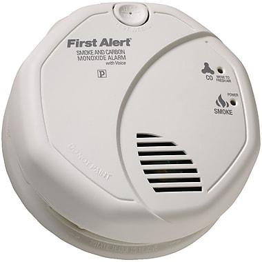 First Alert – Détecteur de fumée et de monoxyde de carbone avec localisation vocale, 85 dB (FATSCO7CN)