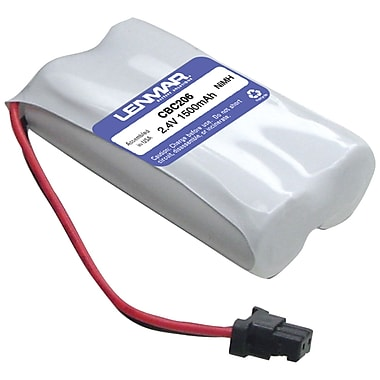 Lenmar CBC206 Ni-MH 1500 mAh Replacement Battery for Panasonic KX-TG2000, KX-TG4000 Cordless Phones
