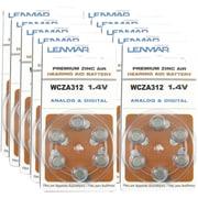 Lenmar® HZA312 6-ct 60/PK Premium Zinc Air 297 mAh Hearing Aid Battery