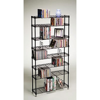 Atlantic 8 Shelves Multimedia Storage Rack 212427