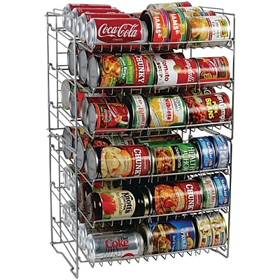 Atlantic® 6-Tier Double Canrack, Silver